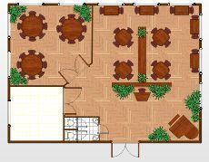 How to create optimal floor plan for restaurants